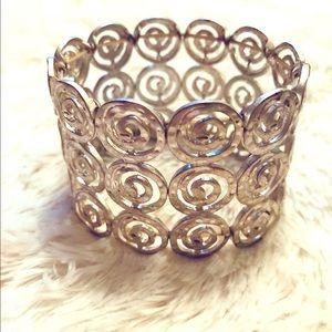 Jewelry - Metal Stretch Cuff Bracelet